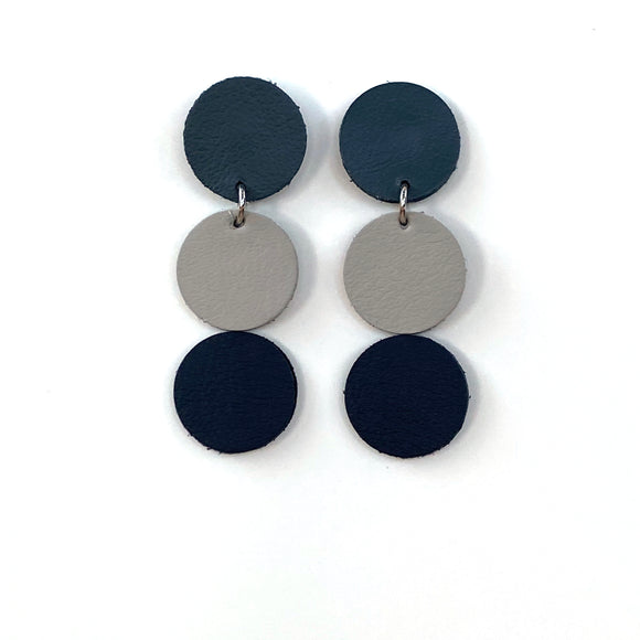 Tri Polka Dot Earrings I