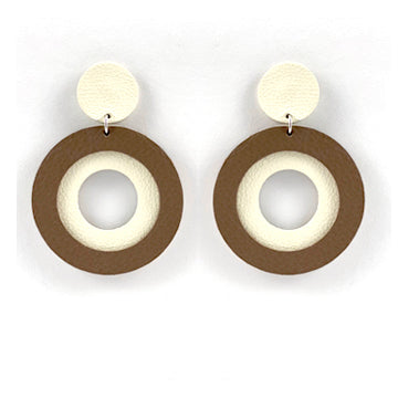 Sunrise Earrings - Ivory | Brown