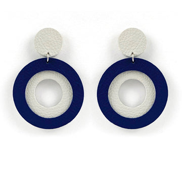 Sunrise Earrings - Light Grey | Navy