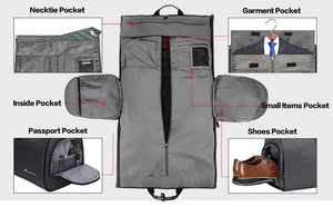 Travel Garment Bag with Shoulder Strap Duffel Bag Carry on Hanging Suitcase - Trek Wanderer