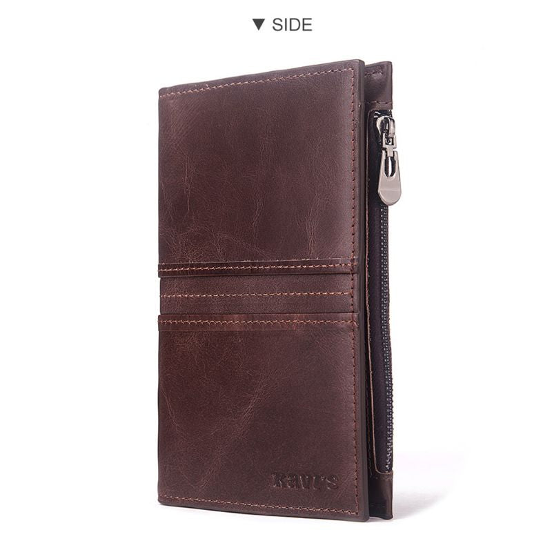RFID Genuine Leather Passport Cover ID Card Holder - Trek Wanderer