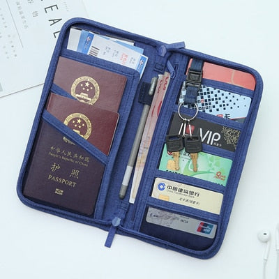 Men Women Travel Organizer Passport Pack Holder - Trek Wanderer