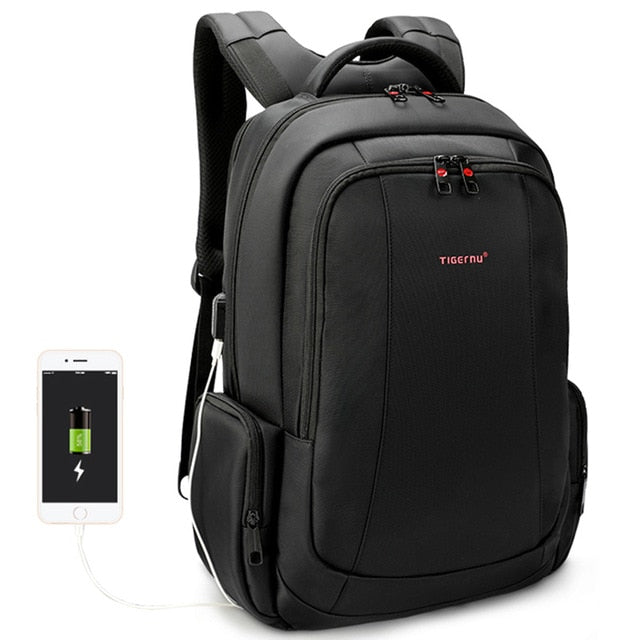 Anti Theft Nylon Backpack School Fashion Travel Bag - Trek Wanderer