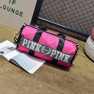 2019 Large Capacity Travel Gym Tote Travel Bag Pink - Trek Wanderer