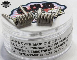 CLOUD REVOLUTION - GAME OVER MAN! ORIGINAL ALIEN FUSED CLAPTON COILS