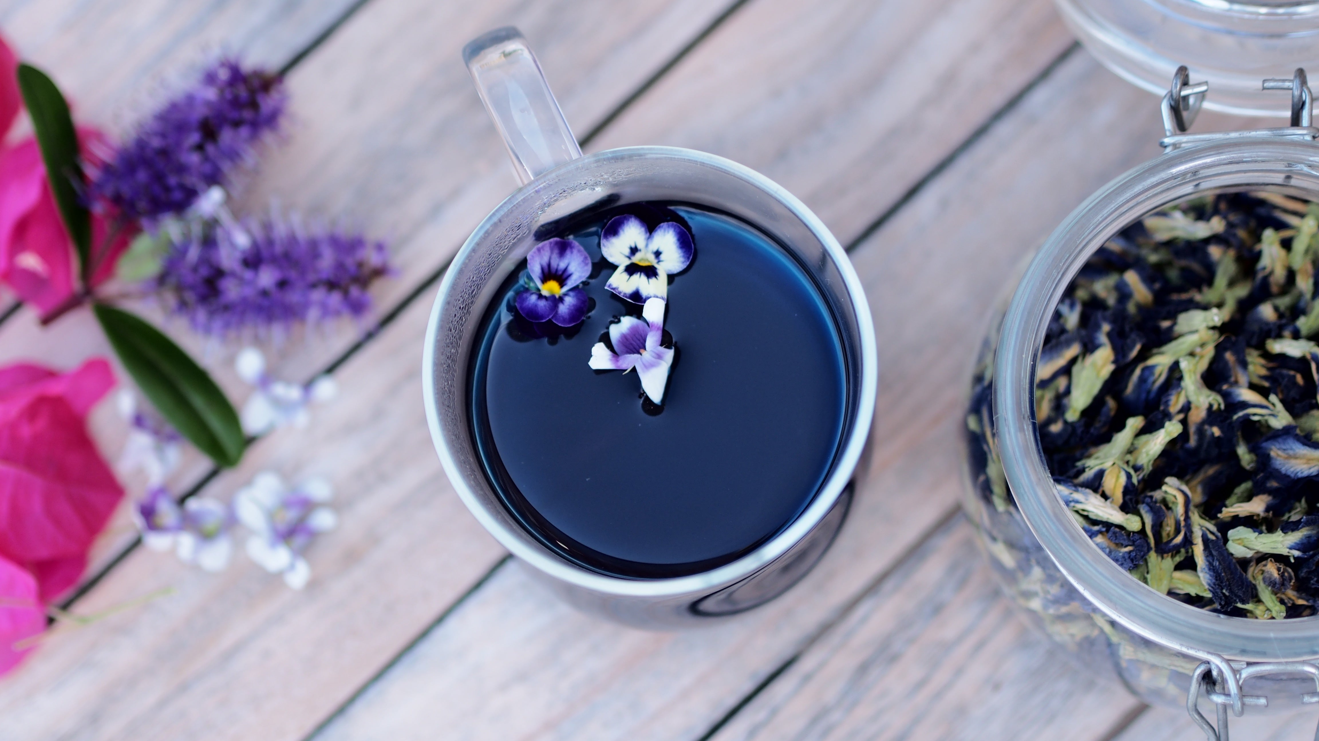 Butterfly Blue Pea, Lavender and Ginger Tea