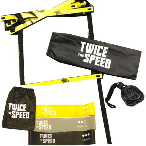 TTS Speed Bundle (2 Sets Resistance Bands, 2 Speed Ladders, 1 Stopwatch, & FREE Shipping) - Twice The Speed