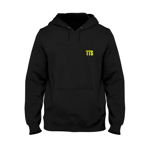 Twice The Speed Logo Black Hoodie (TTS Logo Over Heart) - Twice The Speed
