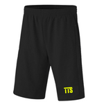 TTS Athletic Shorts (Black Shorts With Twice The Speed Logo) - Twice The Speed