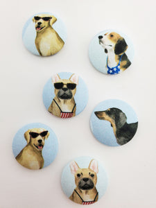 Beach Dog Magnets