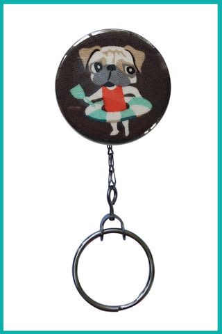 Pug at the Beach Office ID Badge Reel