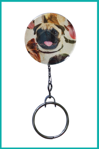 Pug Office ID Badge Reel