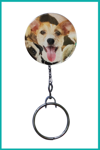 Scruffy Dog Office ID Badge Reel
