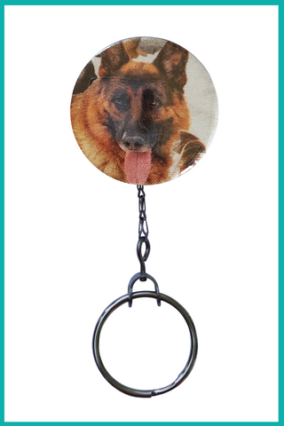 German Shepherd Office ID Badge Reel