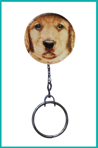 Yellow Labrador Office ID Badge Reel