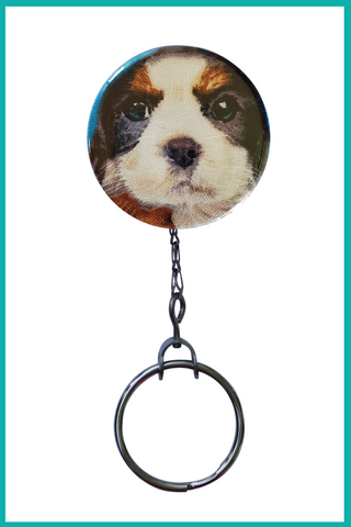 Shih Tzu Office ID Badge Reel