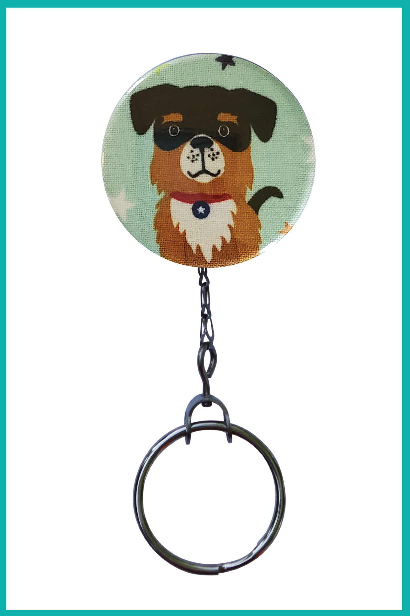 Saint Bernard Superhero Office ID Badge Reel