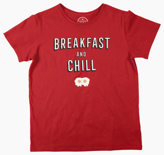 BR - Shirt, Breakfast and Chill, Red