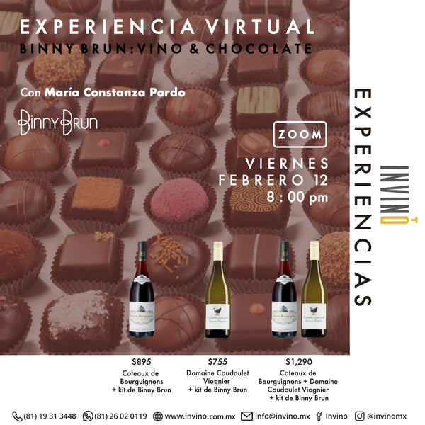 Experiencia Virtual: BinnyBrun: Vino & Chocolate