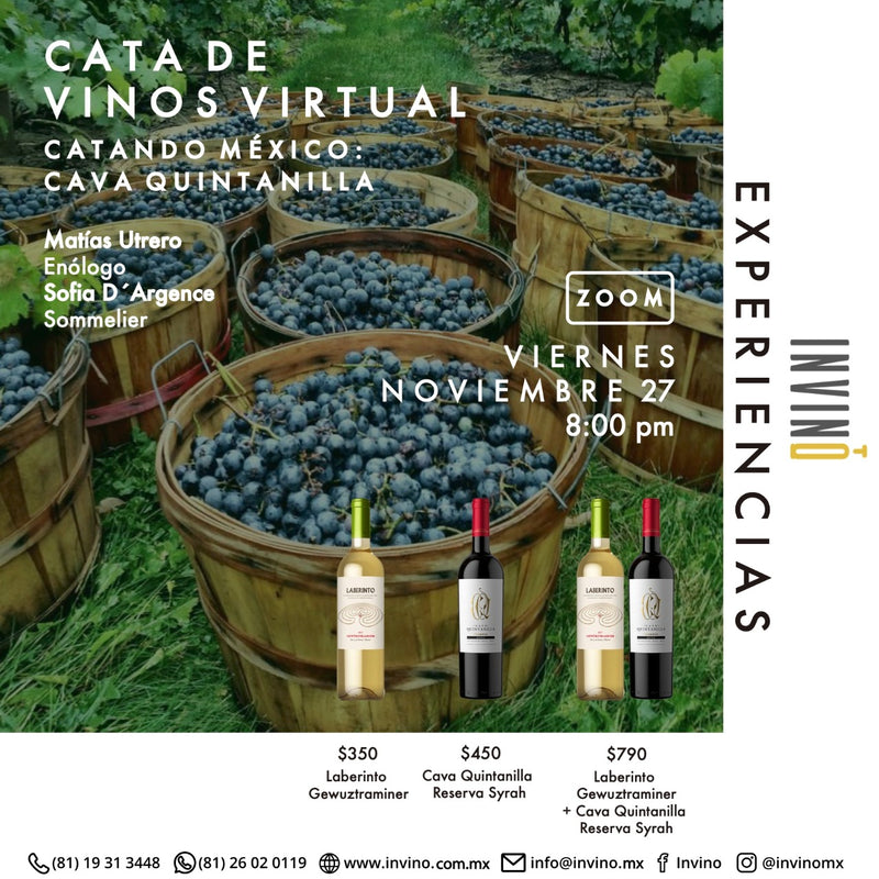 Cata Virtual: Catando Mexico: Cava Quintanilla