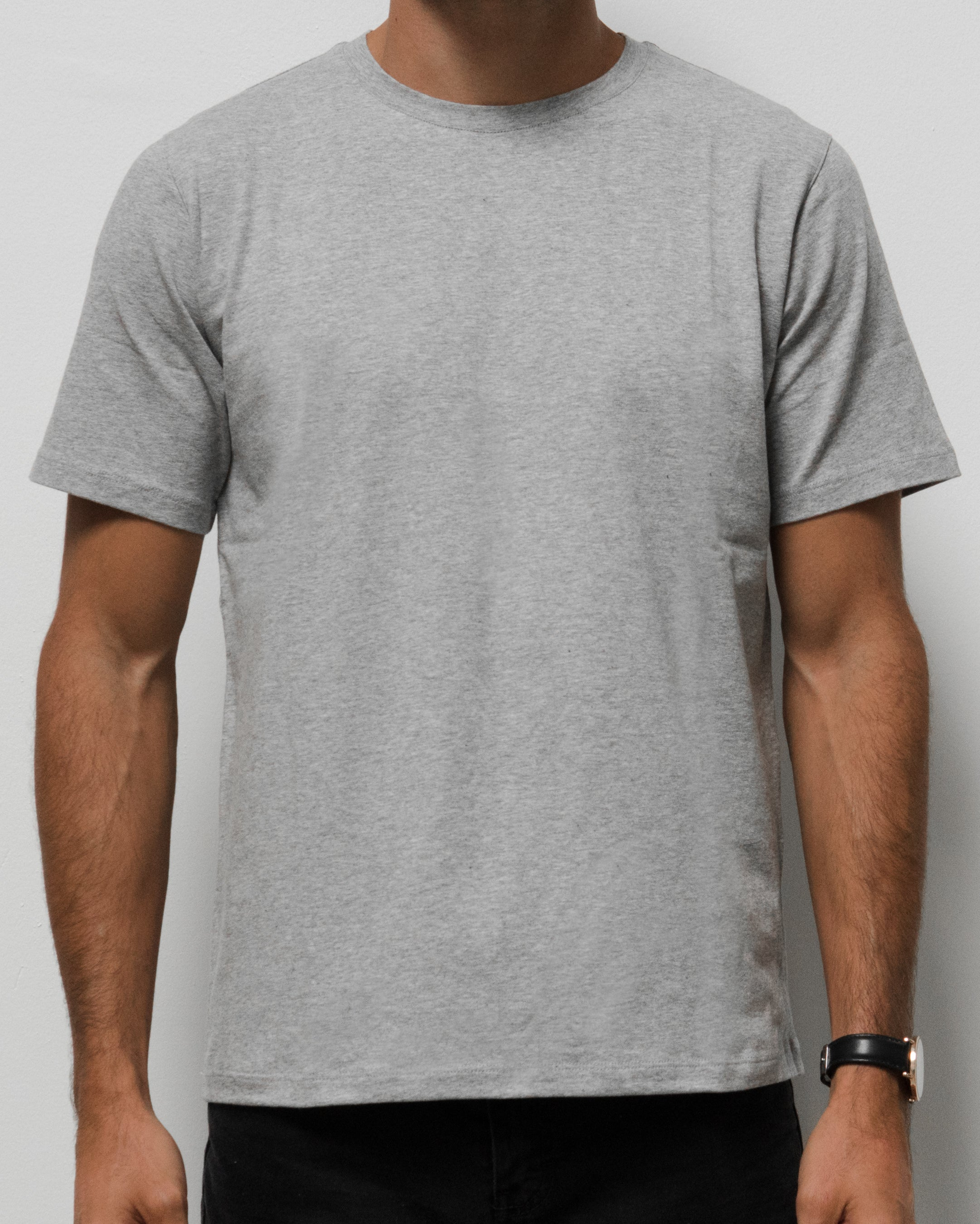 Crew Neck T Shirt - Grey