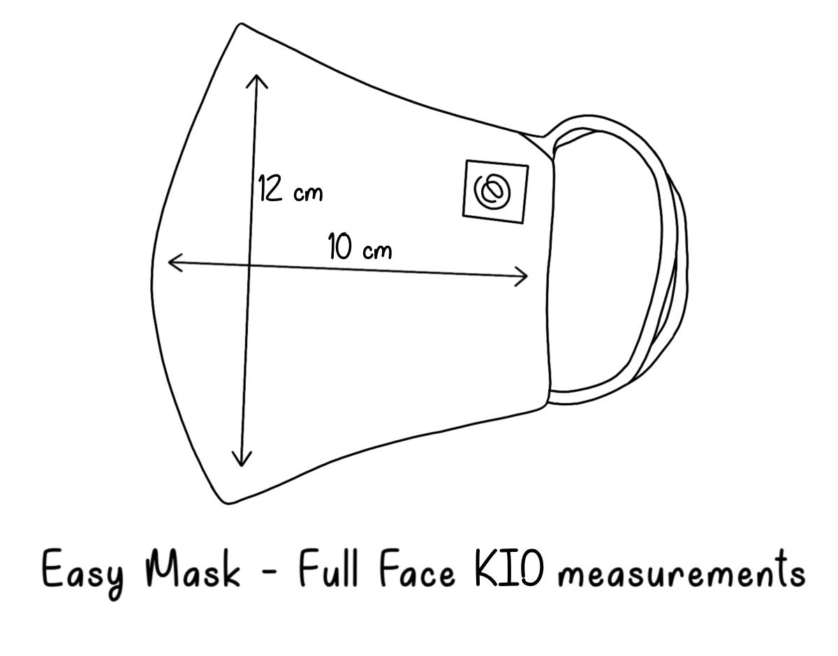 Easy Mask Full Face - Kids - Prince of Wales Blue Check (3 Pack)