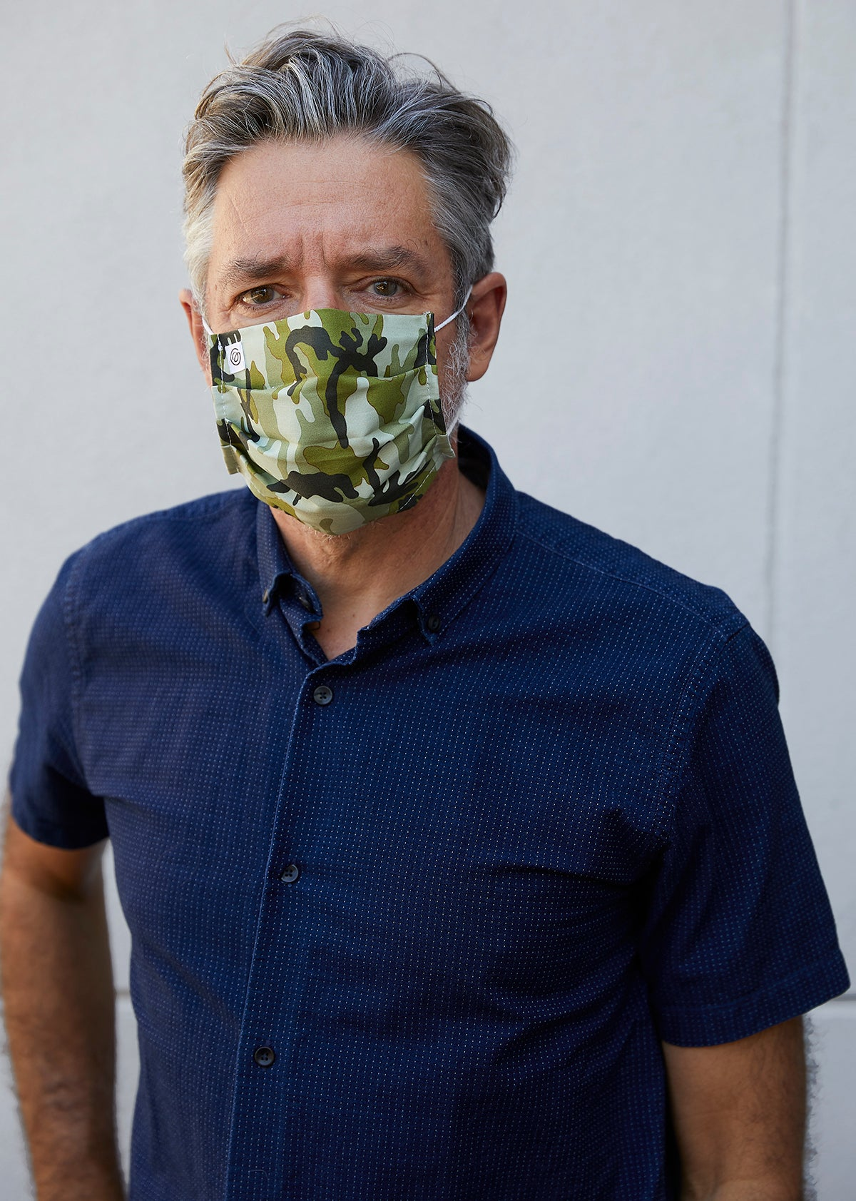 Easy Mask Pleated - Green Camo