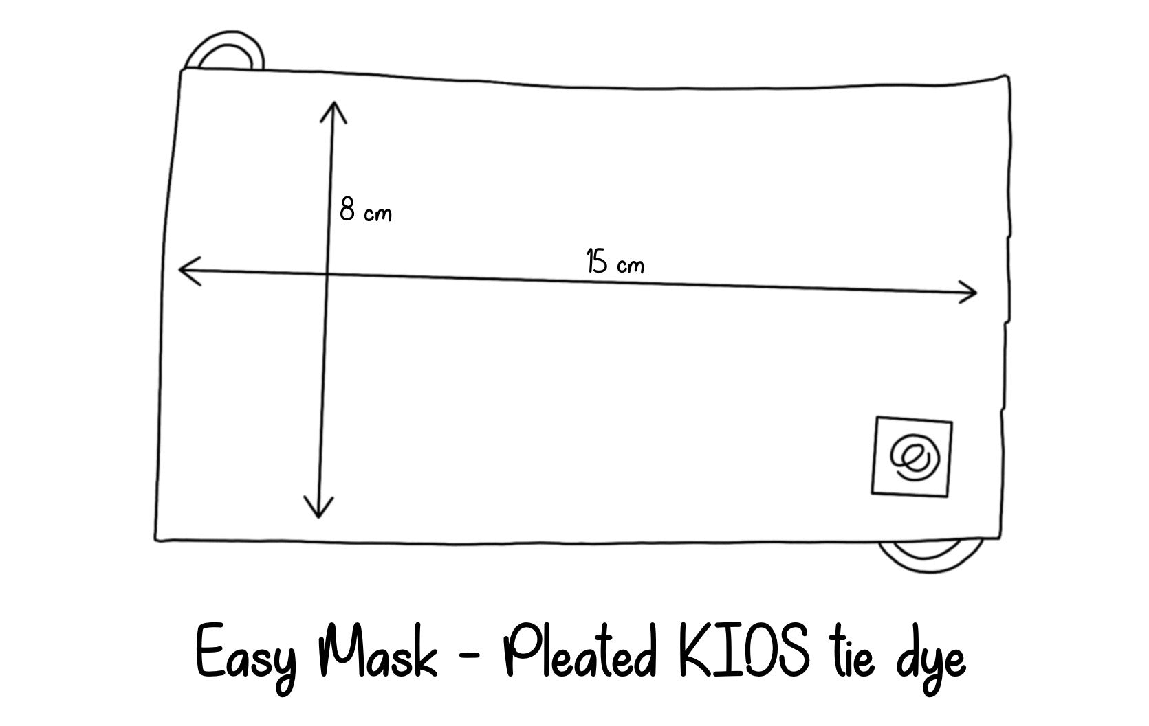 Easy Mask Pleated - Kids - Blue Tie Dye