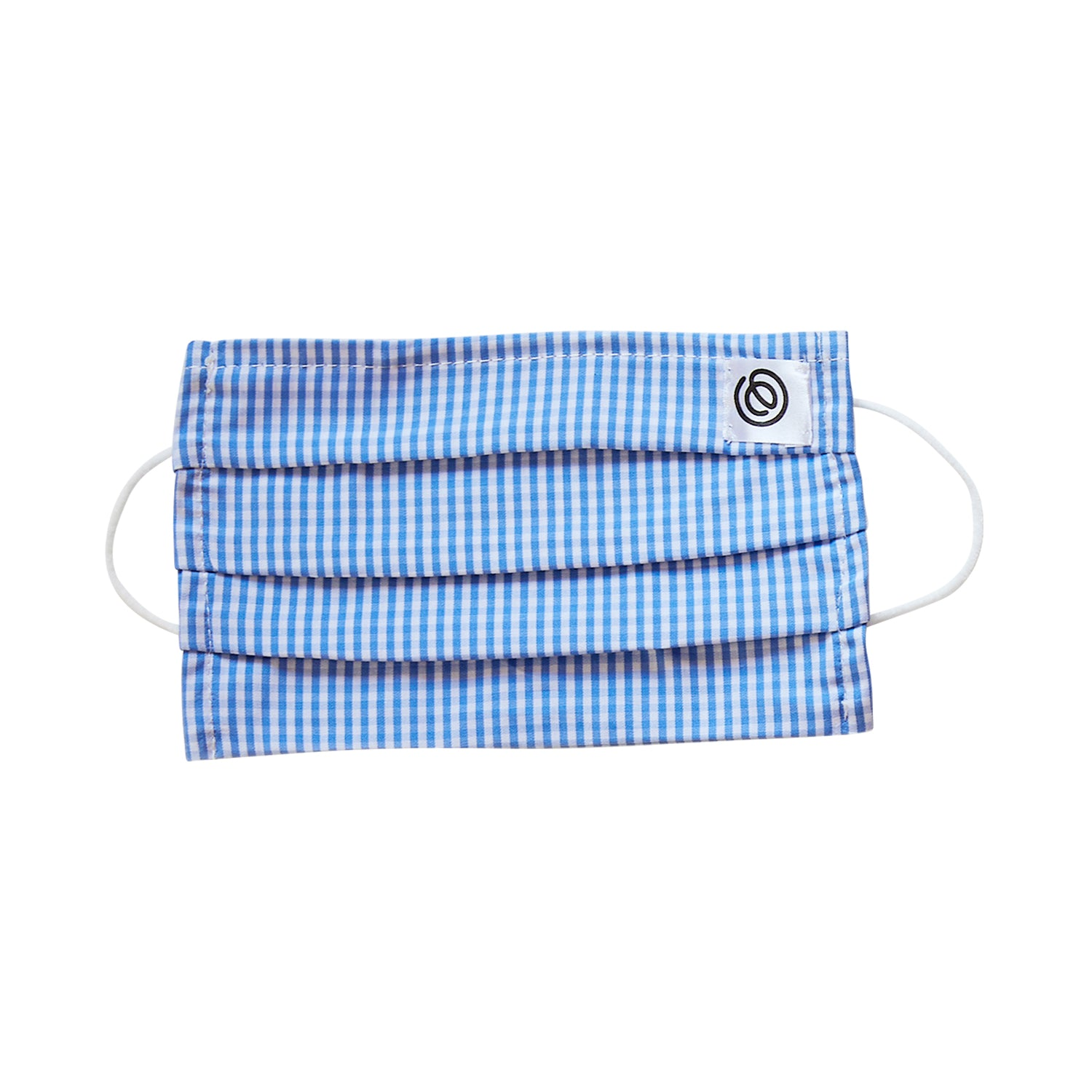 Easy Mask Pleated - Blue Gingham (3 Pack)