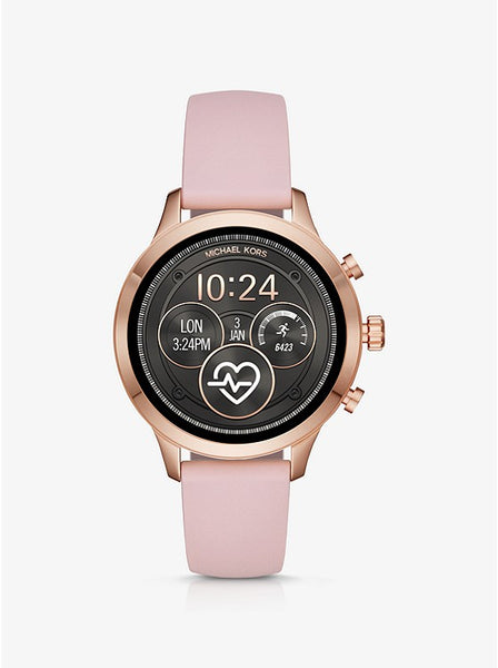 Michael Kors Runway Heart Rate Rose Gold-Tone and Silicone Smartwatch