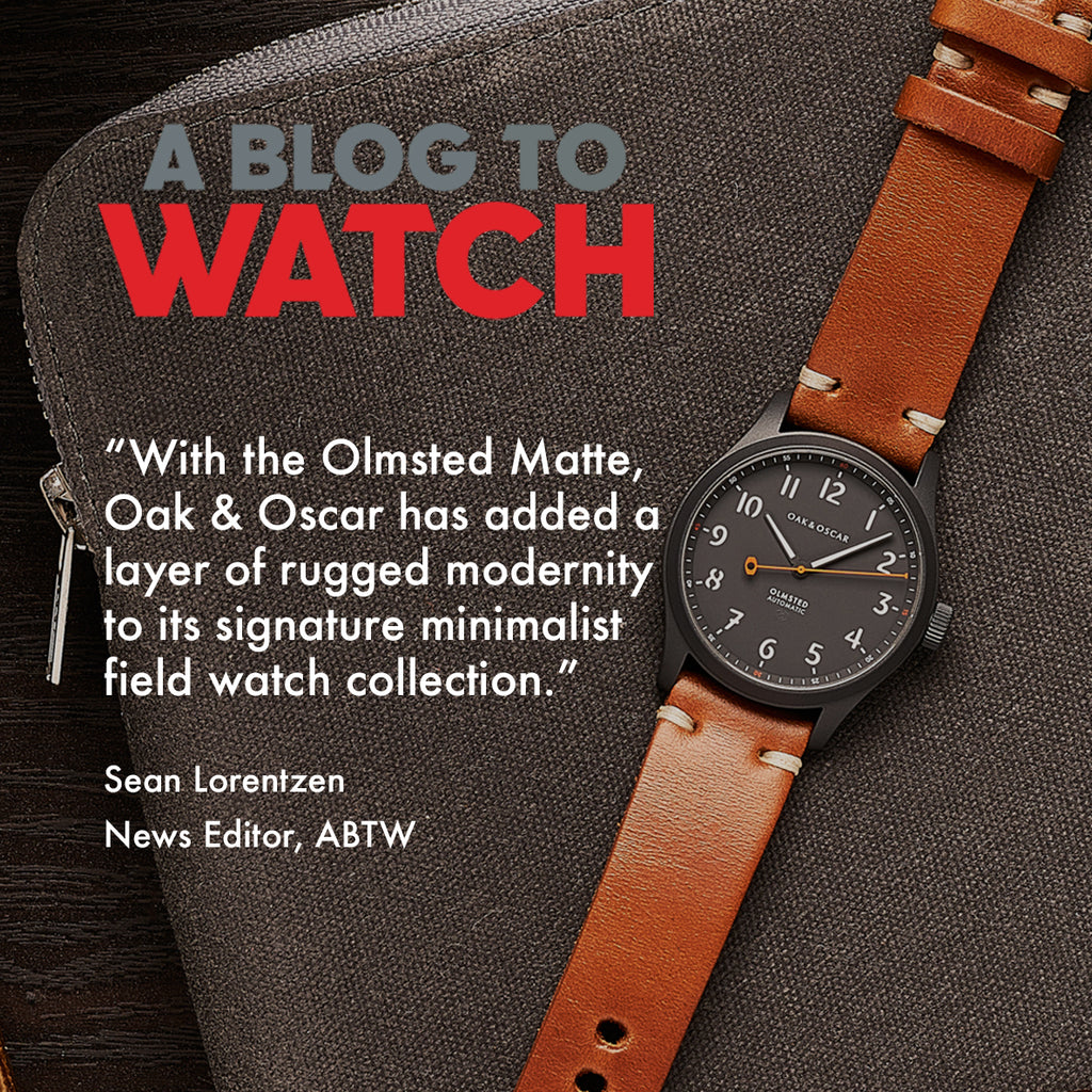 IN THE NEWS: ABTW FEATURES THE OLMSTED MATTE