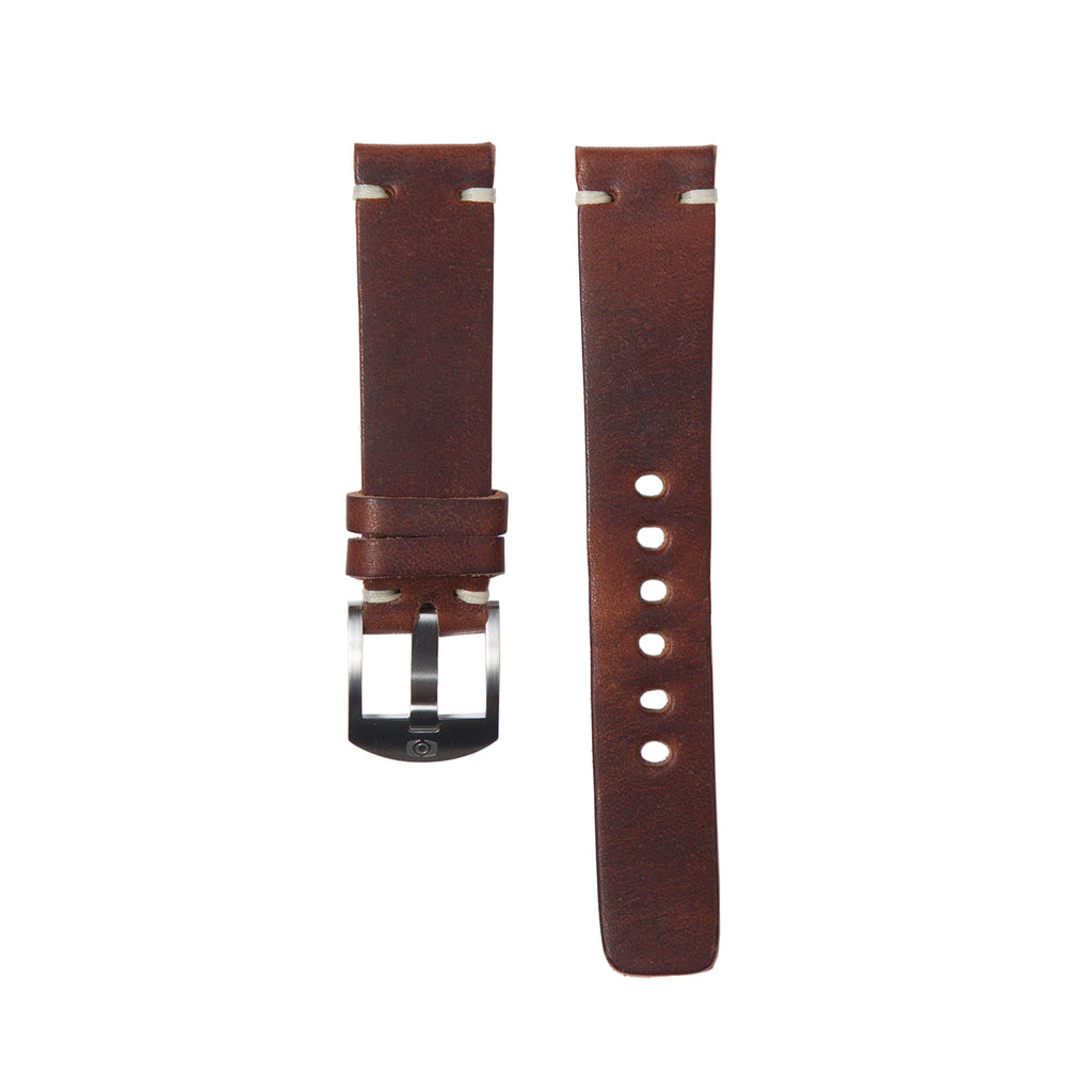 Mahogany Leather Strap - 20mm-Oak & Oscar