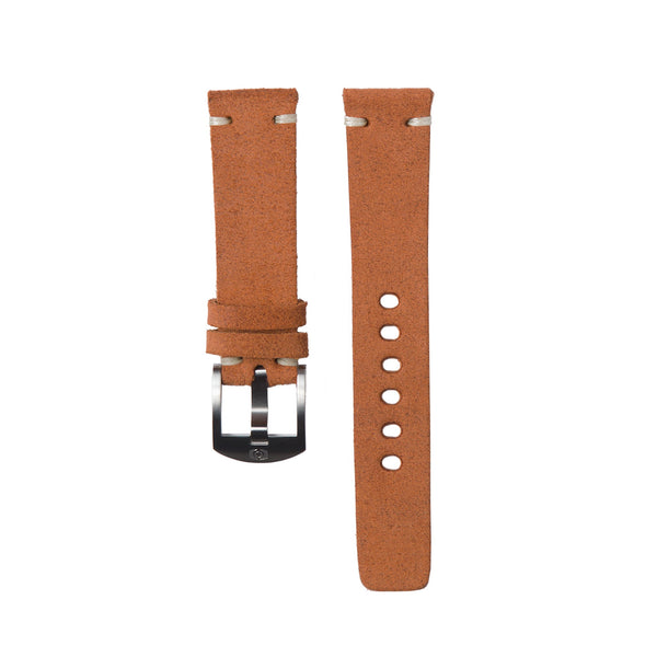 Terracotta Suede Strap - 20MM-Oak & Oscar
