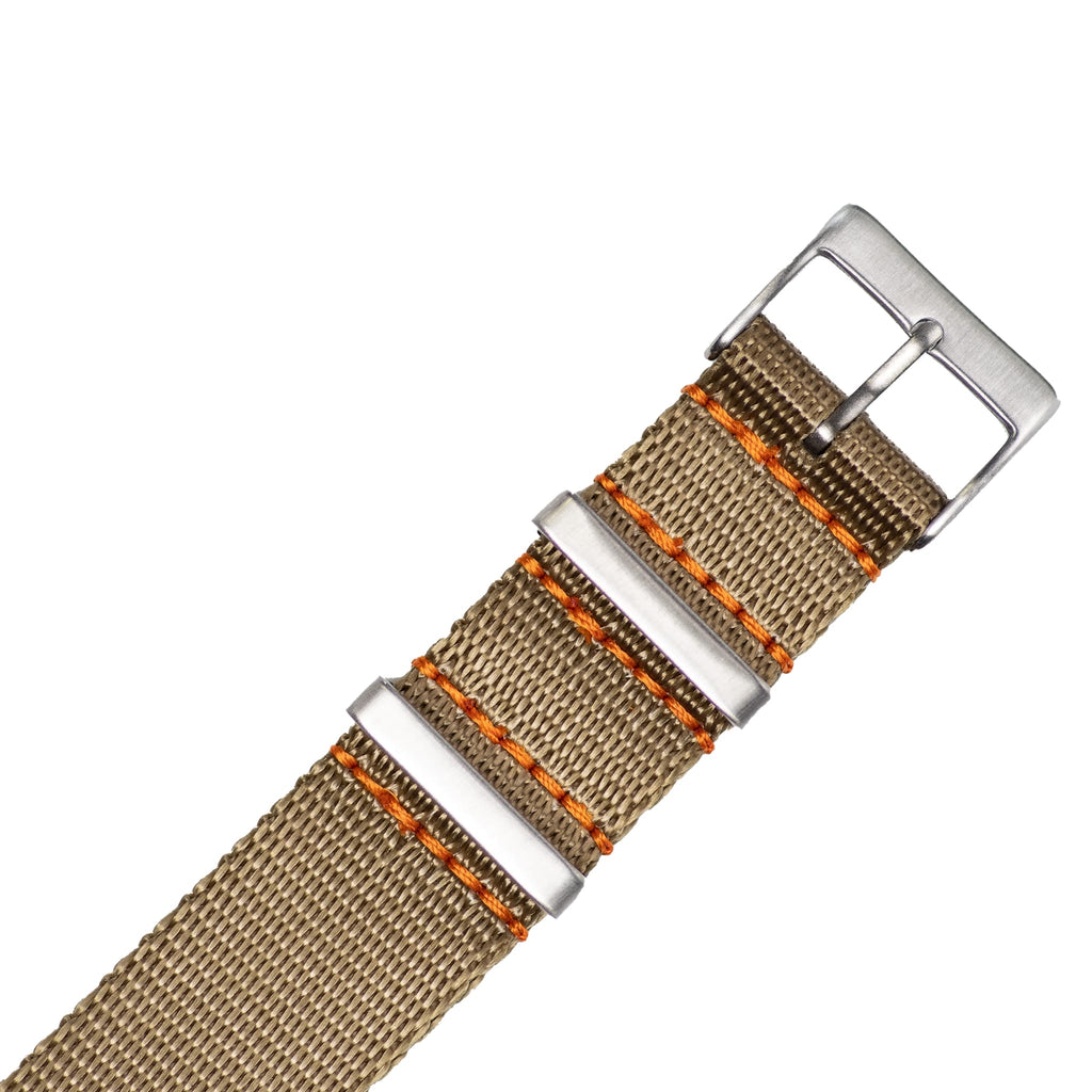 Tan Khaki Nylon Strap - 20mm-Oak & Oscar