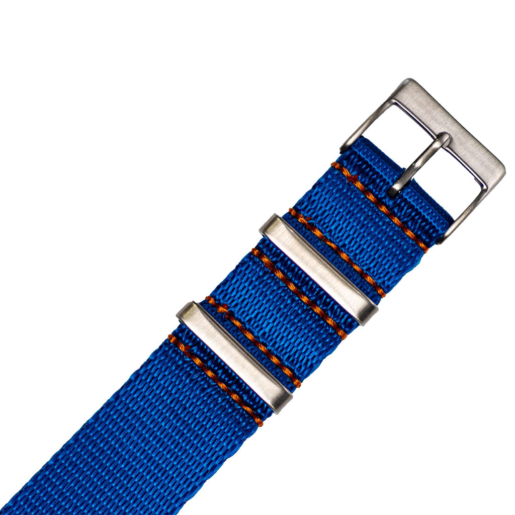 Medium Blue Nylon Strap - 20mm-Oak & Oscar