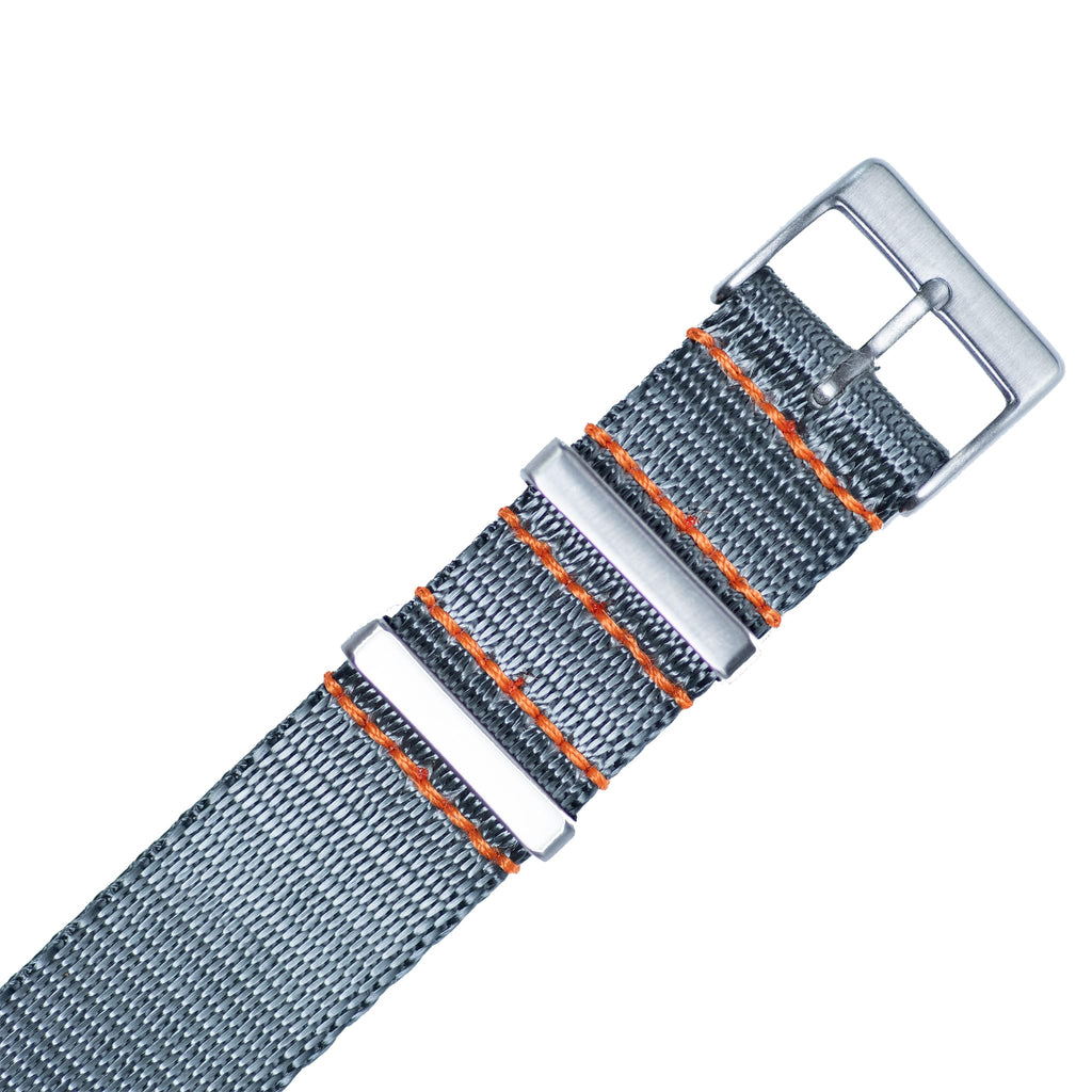 Steel Grey Nylon Strap - 20mm-Oak & Oscar