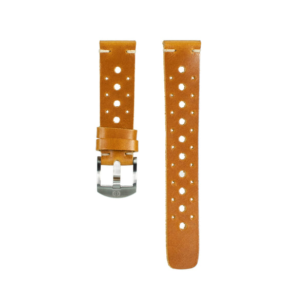 Honey Wheat Leather Rally Strap - 20mm