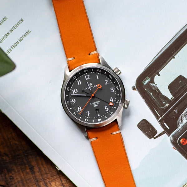 Orange Leather Strap - 20mm