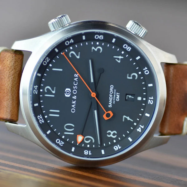 The Sandford - Stainless Steel-Oak & Oscar
