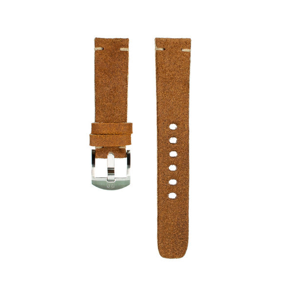 Rough Out Suede Strap - 20mm-Oak & Oscar