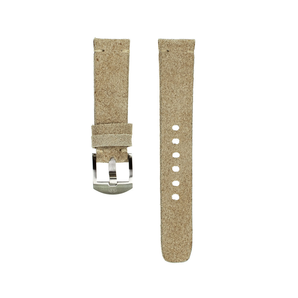 Light Tan Suede Strap - 20mm-Oak & Oscar
