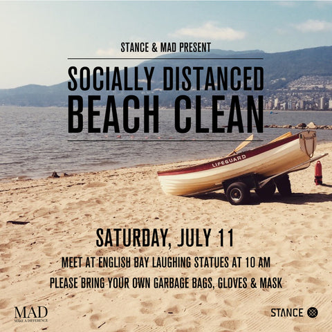 sociallydistanced beach clean