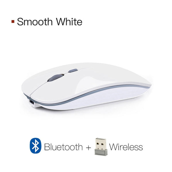 Silent Rechargeable Wireless Mouse (3 colors for options)
