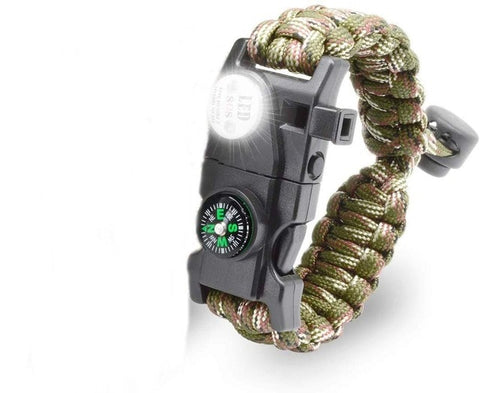 Outdoor Survival Paracord Bracelet