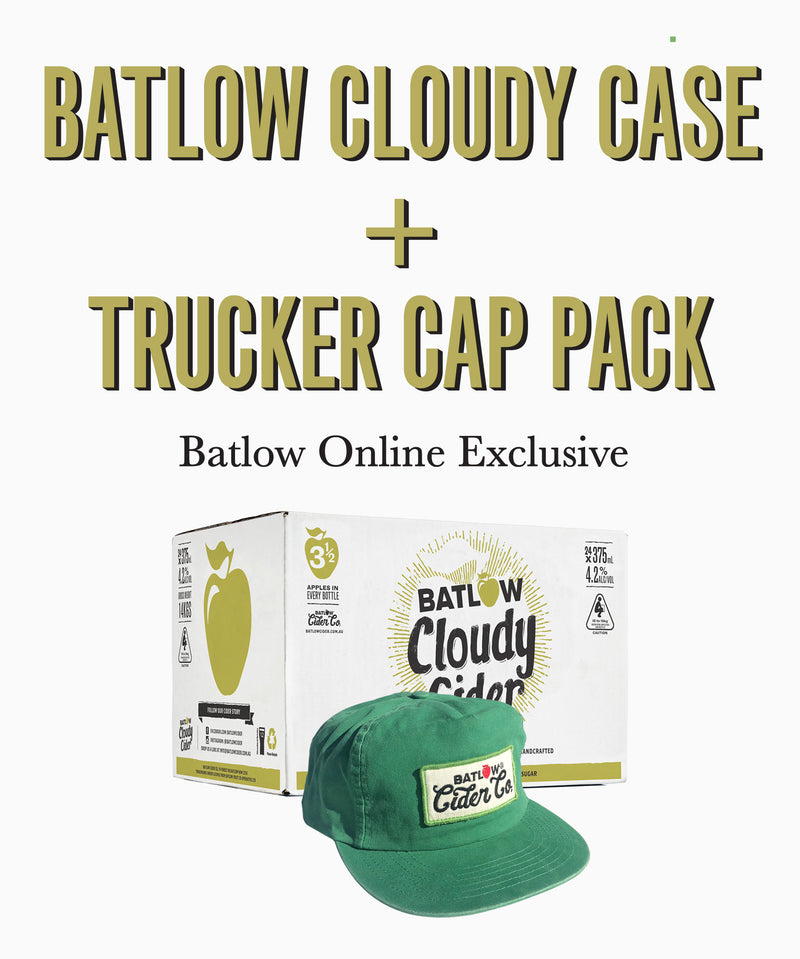 Batlow Cloudy Cider Case + Cap Pack