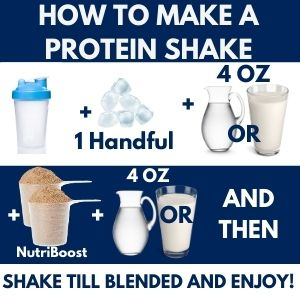 How to make a protein shake in a blender bottle