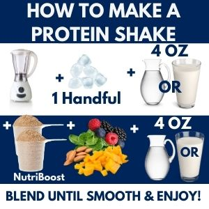 How to make a protein shake in an electric blender