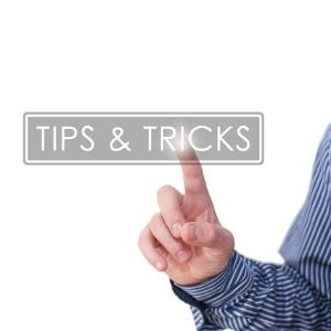 Finger tapping the words tips & tricks