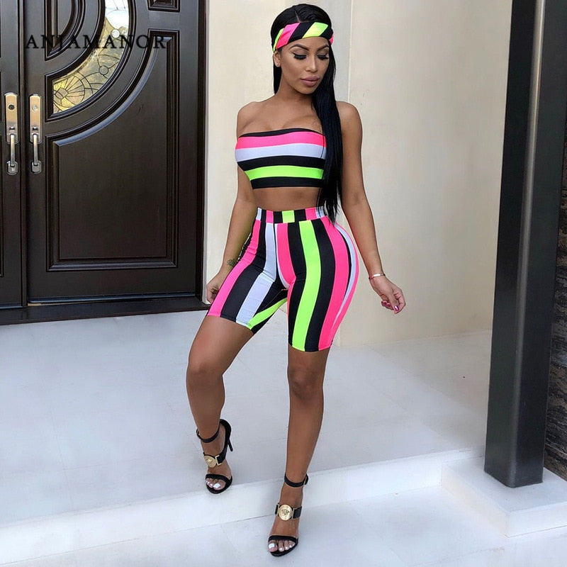 Fashion Striped Sexy Two Piece