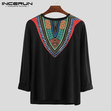 Load image into Gallery viewer, Fashion Long Sleeve Men T Shirt African